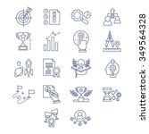 vector collection of flat line... | Shutterstock .eps vector #349564328