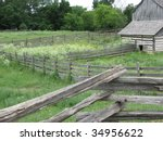 Barn and Fenced Fields