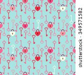 cute primitive seamless retro... | Shutterstock .eps vector #349571582