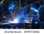 the movement of workers with... | Shutterstock . vector #349572806