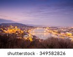 budapest panorama taken from... | Shutterstock . vector #349582826