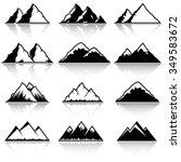 mountain icon set | Shutterstock .eps vector #349583672
