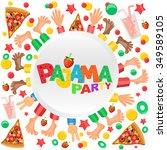 pajama party invitation card | Shutterstock . vector #349589105