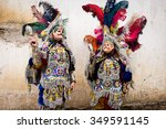 costumes and masks feathers in... | Shutterstock . vector #349591145