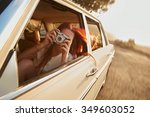 shot of  young woman taking... | Shutterstock . vector #349603052