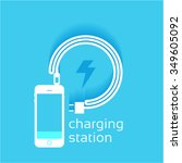 power vector design  phone... | Shutterstock .eps vector #349605092
