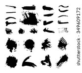 ink brush set vector | Shutterstock .eps vector #349609172