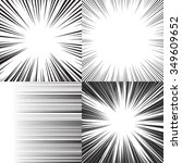 Comic book speed horizontal lines background set of four editable images | Shutterstock vector #349609652