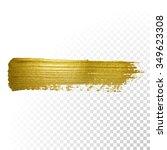 vector gold paint smear stroke... | Shutterstock .eps vector #349623308