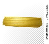 vector gold paint smear stroke... | Shutterstock .eps vector #349623338
