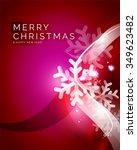 vector merry christmas abstract ... | Shutterstock .eps vector #349623482