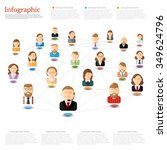 flat concept business or... | Shutterstock .eps vector #349624796