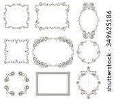 set of classical frames ... | Shutterstock .eps vector #349625186