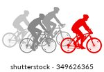 cycling cyclist bike silhouette ... | Shutterstock .eps vector #349626365