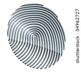 vector 3d abstract fingerprint | Shutterstock .eps vector #34962727