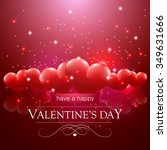happy valentine's day message ... | Shutterstock .eps vector #349631666