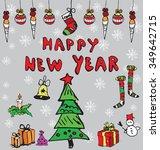 happy new year concept | Shutterstock .eps vector #349642715