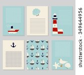 set of printable cards in...   Shutterstock .eps vector #349644956