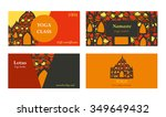 visit cards for yoga class or... | Shutterstock .eps vector #349649432