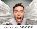 emotional stress. | Shutterstock . vector #349653836