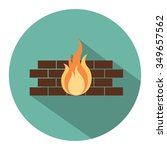 firewall flat icon | Shutterstock .eps vector #349657562