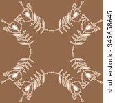 circular pattern  of floral... | Shutterstock .eps vector #349658645