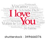 Love Word Cloud In Many...