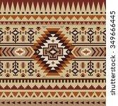 seamless ethnic pattern design | Shutterstock .eps vector #349666445