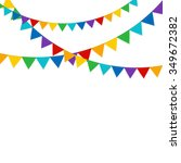 party on white background with... | Shutterstock . vector #349672382