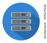servers flat icon   Shutterstock .eps vector #349674236