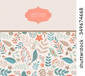 vector hand drawn floral... | Shutterstock .eps vector #349674668