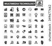 multimedia technology icons ... | Shutterstock .eps vector #349677662