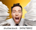 emotional stress. | Shutterstock . vector #349678802