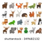 set of wild animals | Shutterstock . vector #349682132