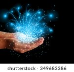 stars and magic in your hands | Shutterstock . vector #349683386