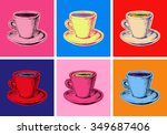 set of coffee mug vector... | Shutterstock .eps vector #349687406