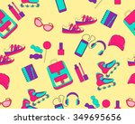 clothing and accessories for... | Shutterstock .eps vector #349695656