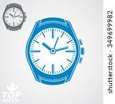 vector graphic pocket watch ... | Shutterstock .eps vector #349699982