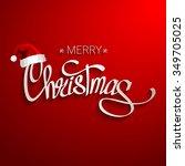 merry christmas lettering design | Shutterstock .eps vector #349705025