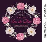 flower wedding invitation card  ...   Shutterstock .eps vector #349705646