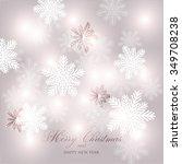 christmas glowing lights. merry ... | Shutterstock .eps vector #349708238