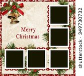 vintage christmas background... | Shutterstock . vector #349730732