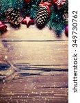 christmas decoration over... | Shutterstock . vector #349730762