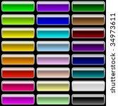 vector set of glossy...   Shutterstock .eps vector #34973611