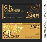 gift voucher. vector ... | Shutterstock .eps vector #349777325