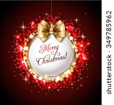 merry christmas greeting card... | Shutterstock .eps vector #349785962