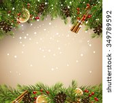 christmas background with... | Shutterstock .eps vector #349789592