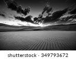 Dramatic Sky Over Desert Dunes...