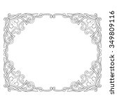 vintage baroque frame scroll... | Shutterstock .eps vector #349809116