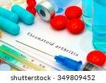 rheumatoid arthritis  ... | Shutterstock . vector #349809452